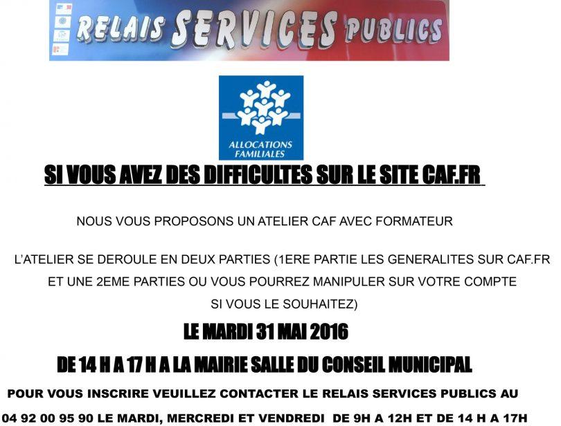 Atelier CAF Relais Des Services Publics LESCARENE